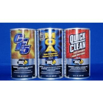 Bg cf5 moa quick clean  performance kit  injector cleaner oil additive engine