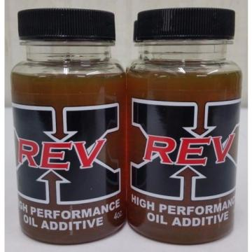 Rev-X Oil Treatment Additive (2) 4oz. Bottles Rev X Fix injector Stiction Heui