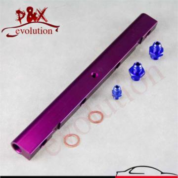 Aluminum High Flow Injector Fuel Oil Rail kit for Audi VW 1.8L Turbo 20V Purple