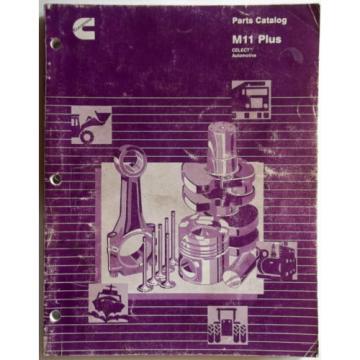 1995 Cummings Diesel Parts Catalog P/N's M11 Plus-Injectors-Idler Gears-Oil Pan