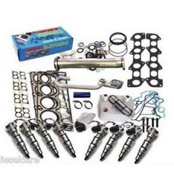 6.0L Ford Injectors & Head Studs EGR Delete kit  &  Oil Cooler +Gaskets 18/20mm