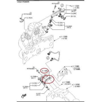 New OEM Fuel Insulator Distributor Oil Injectors MAZDA RX8 2003 - 2008 N3H113158