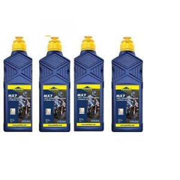 4 X 1LITRE PUTOLINE MX7 TWO STROKE OIL full synthetic  LITRE pre mix & injector