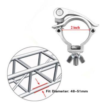 10 Pack 2Inch 220Lbs Clamp Hook Bracket Mount Tool Truss for Par Light 48-51mm