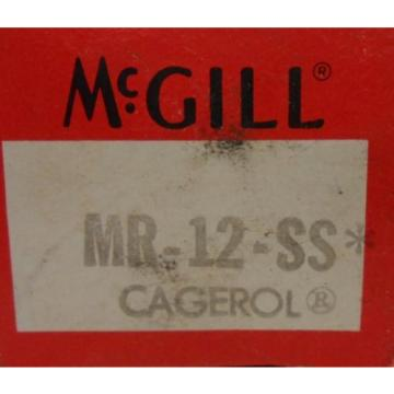 "MCGILL, NEEDLE ROLLER BEARING, MR-12-SS, 0.7500"" BORE, 1.2500"" OD"