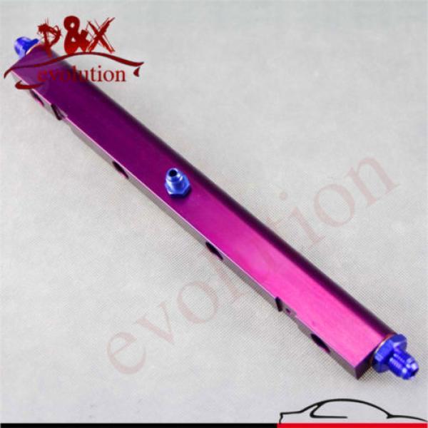 Aluminum High Flow Injector Fuel Oil Rail kit for Audi VW 1.8L Turbo 20V Purple #1 image