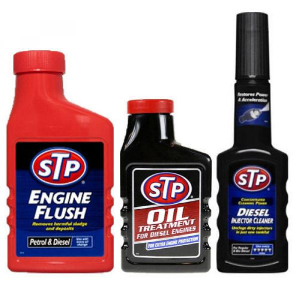 STP 3 PACK ENGINE FLUSH + DIESEL OIL TREATMENT + INJECTOR CLEANER FUEL ADDITIVE #1 image